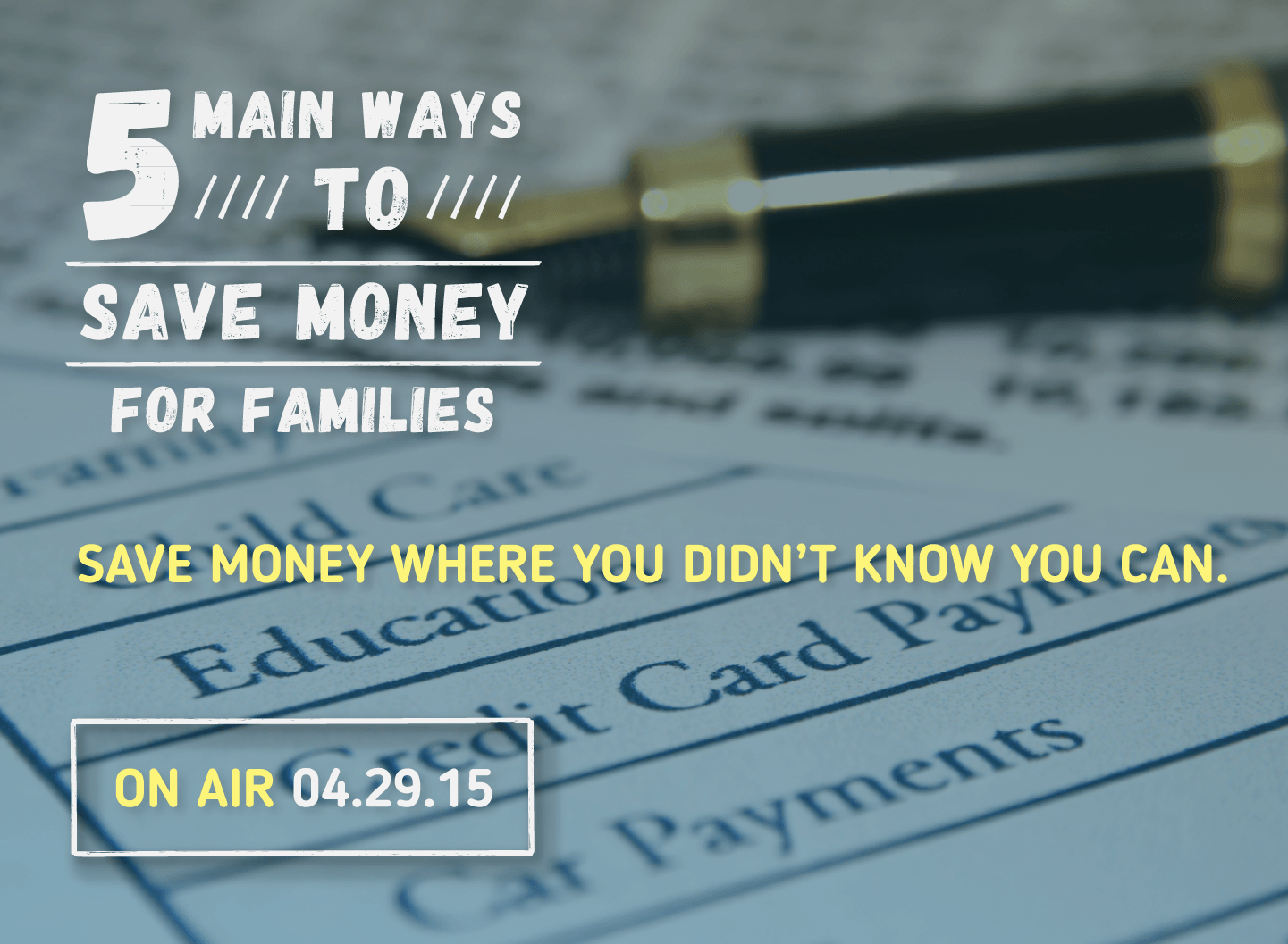 5 Main Ways To Save Money For Families