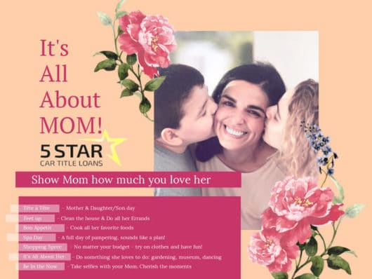 5 Star Car Title Loans Honors Mother's Day