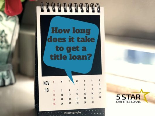 how long does it take to get a title loan