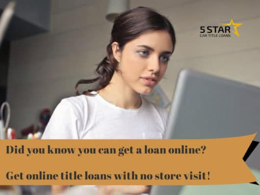 Get online title loans with no store visit